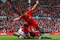 Footballer Luis Suarez celebrates