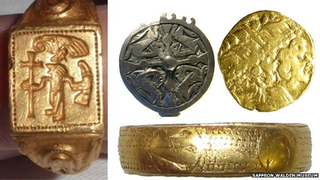 Four archaeological finds