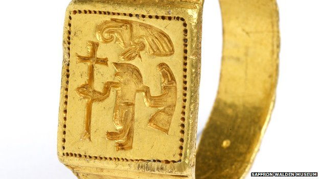 Close-up of Anglo-Saxon ring