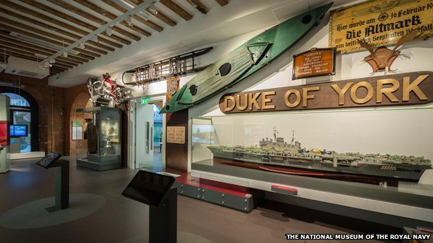 A replica of a cockle canoe used by the Navy during a mission on Bordeaux Harbour in 1942 is on show