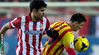 Lionel Messi and Diego Costa