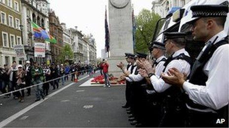 Police demonstration