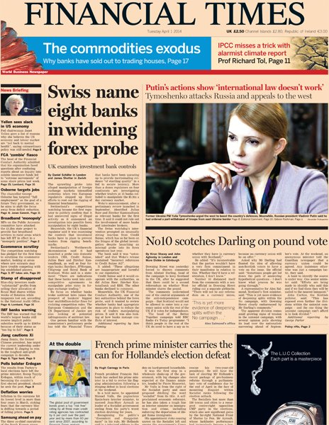 Financial times forex investigation