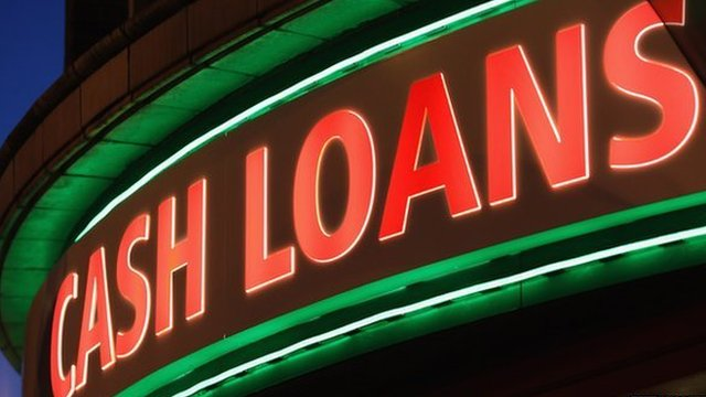 Cash payday loan sign