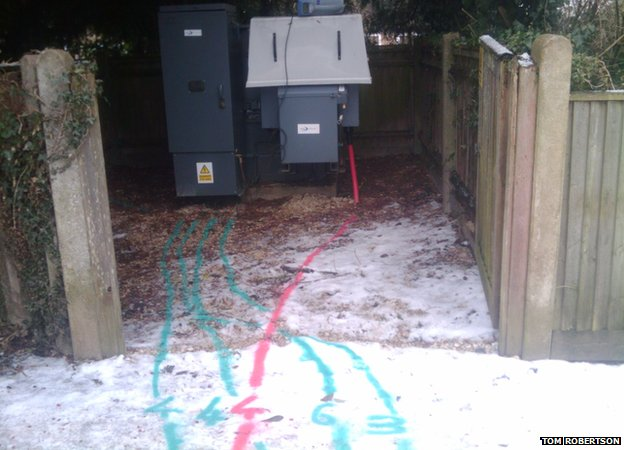 Lines leading to an electricity box