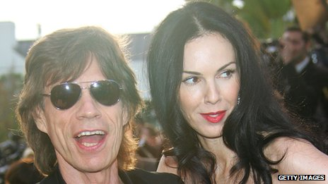 Sir Mick Jagger with L'Wren Scott in 2006