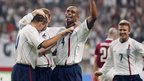David Beckham and England team 2002 World Cup