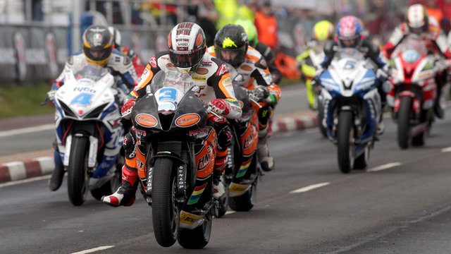 Action from the North West 200