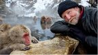 George McGavin and snow macaque