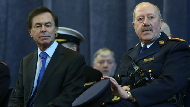Justice Minister Alan Shatter and the former Garda Commissioner Martin Callinan, who resigned on Tuesday