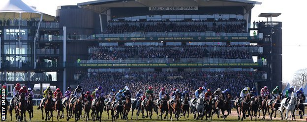 The start line at Aintree