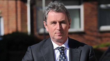 Nigel Evans arriving at court