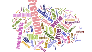Freedom2014 word cloud