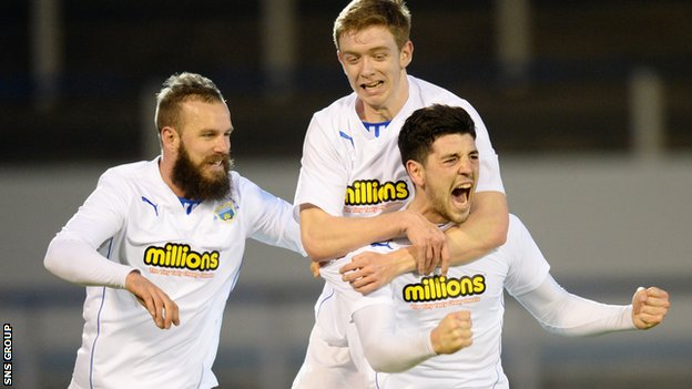 Morton were 3-0 winner at home to Dumbarton