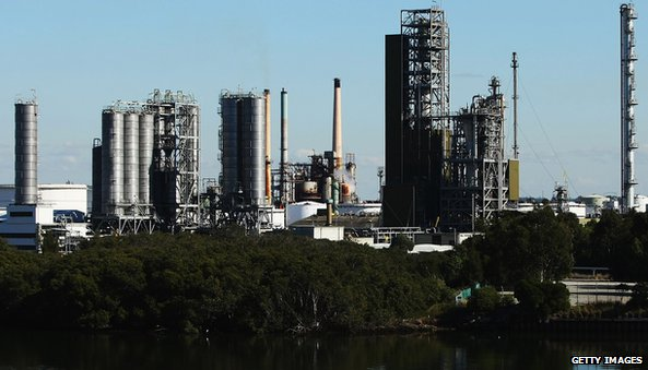 Refinery in Sydney, Australia