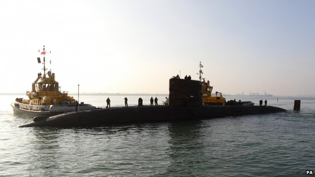 File photo: Royal Navy submarine HMS Tireless, 1 March 2012