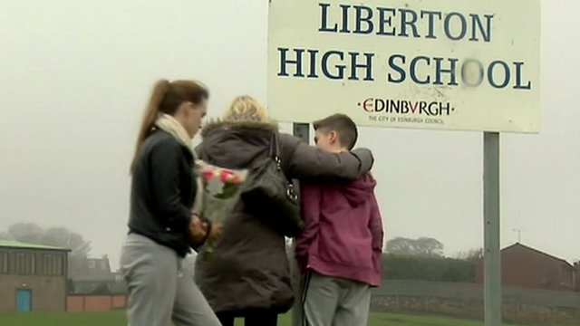 Tributes paid at Liberton High School in Edinburgh