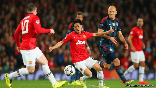 Manchester United play Bayern Munich in the Champions League