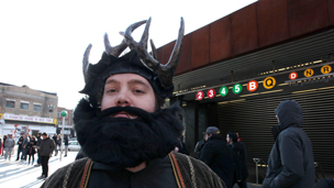 Game of Thrones fan in fake beard