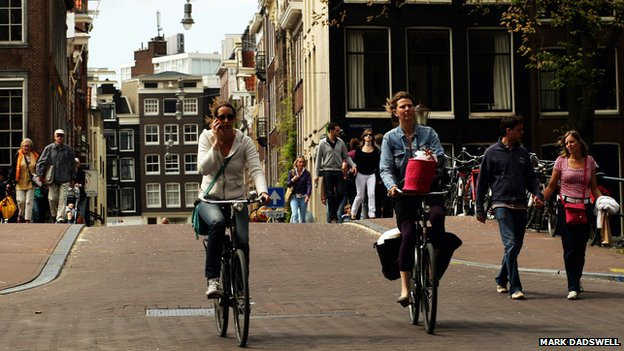 Amsterdam cyclists (file photo 2009)