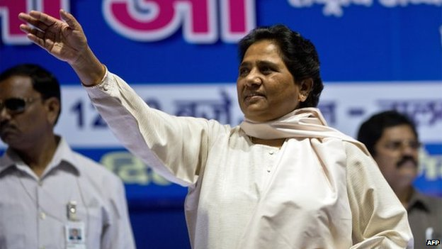 File photo of Mayawati in Delhi, Sept 6, 2013