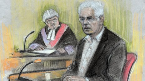 Sketch of Max Clifford in court (Elizabeth Cook/PA)