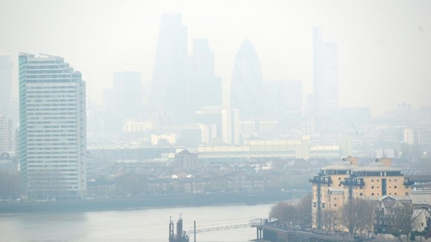 Pollution over the Thames