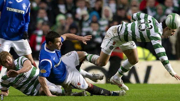 Rangers' Lee McCulloch and Celtic's Beram Kayal in 2011