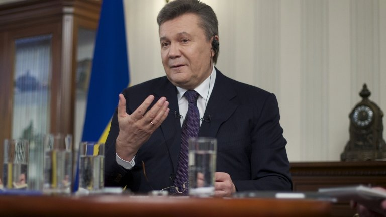 Viktor Yanukovych, Rostov-on-Don, Russia. 2 April 2014