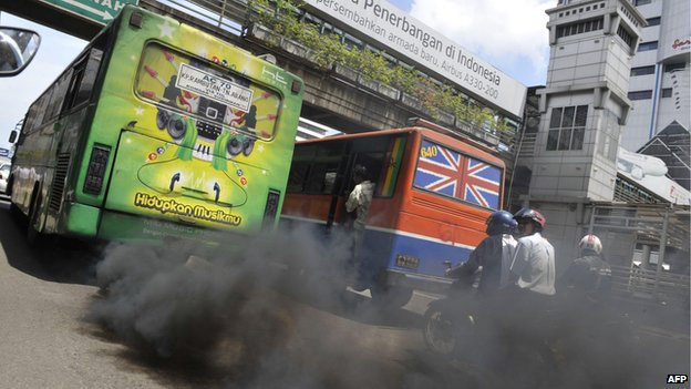 Buses in Jakarta (file photo)
