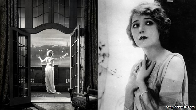 Betty Balfour in Love, Life and Laughter (left) and Mary Pickford (right)