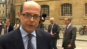 Nick Robinson and Nigel Farage