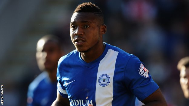Britt Assombalonga who scored Peterborough's second goal