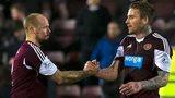 Hearts players Jamie Hamill and Ryan Stevenson