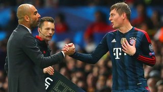 Pep Guardiola and Toni Kroos