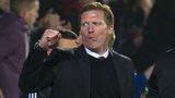 Gary Locke celebrates as Hearts drew 1-1 with Aberdeen
