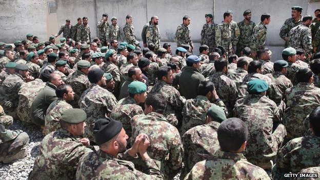 Afghan National Army (ANA) soldiers are preparing to be deployed across the country ahead of the presidential vote