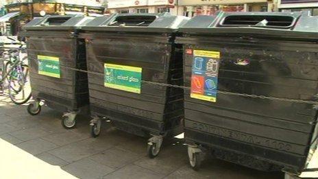 Communal bins in Brighton & Hove