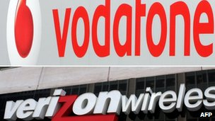 Vodafone and Verizon branding in this file photo from 29/08/13