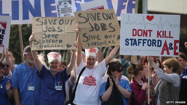 Stafford Hospital protest