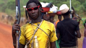 An anti-balaka fighter in Central African Republic