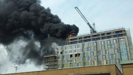 Fire in Southampton