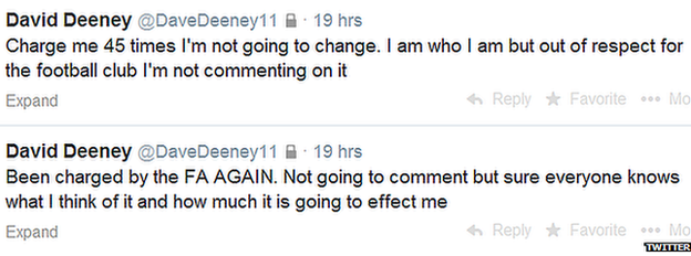 David Deeney tweets
