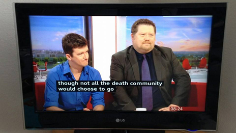 "Subtitle mis-spelling ""deaf community"" as ""death community"""