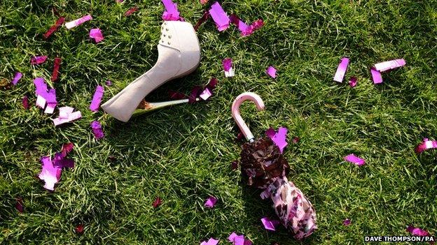 Shoes abandoned at Grand National