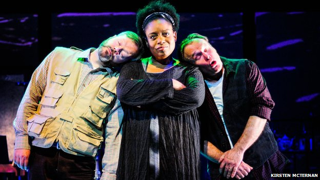 Under Milk Wood: An Opera - Paul Carey Jones, Gweneth Ann Jeffers, and Richard Morris (Photograph: Kirsten McTernan)