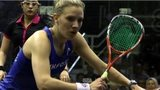 Laura Massaro in action at the World Championship