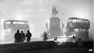 Smog in London in the 1960s