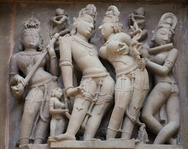Sculpture from temple in Khajuraho