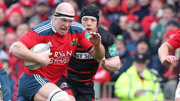 Paul O'Connell on the charge for Munster this season